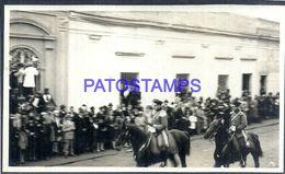 92307 PARAGUAY HELP POLITICA PRESIDENTE MORINIGO MILITARY SOLDIER A HORSE PHOTO NO POSTAL POSTCARD - Paraguay