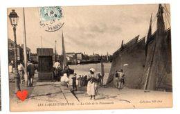 21607-LE-85-LES SABLES-D'OLONNE-La Cale De La Poissonnerie-----------animée-bateaux - Sables D'Olonne