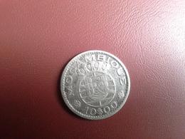 Portugal Colonia  Moçambique   10 Escudos 1952    Silver , Prata Ag.720    5gr. - Portugal