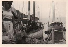 FOTO ORIGINALE-BARCHE IN PORTO- ANNI-50 - Barche