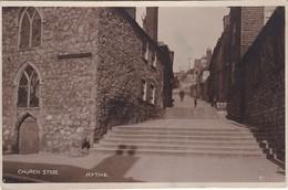 Vintage   Postcard; Church Steps Hythe. Folkstone. Kent. - Folkestone