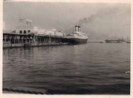FOTO ORIGINALE-NAVE IN PORTO- ANNI-50 - Barche