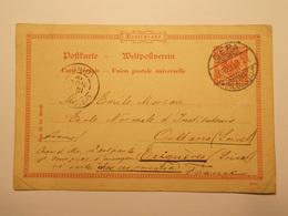 Marcophilie  Cachet Lettre Obliteration Timbres - ALLEMAGNE - Gera - Entier Postal - 1899 (1969) - Allemagne