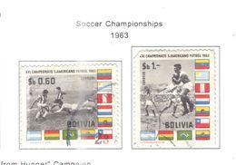Bolivia PO 1963 Mondiali Calcio  Scott.469+470+ See Scan On Scott.Page - Bolivia