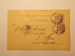Marcophilie  Cachet Lettre Obliteration Timbres - ALLEMAGNE - Schlettstadt - Entier Postal - 1876 (1970) - Alemania