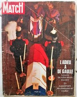 Paris Match N°1125 28 Novembre 1970 L'adieu à De Gaulle(état Moyen Et Sans Supplément) - Kranten