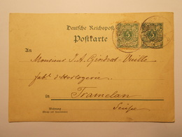 Marcophilie  Cachet Lettre Obliteration Timbres - ALLEMAGNE  - Entier Postal - 1900 (1971) - Briefe U. Dokumente