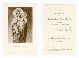 Chartres, Neuvy-en-Beauce, Saulnes, Ordination Secerdotale D'Armand Maury, 1932, Notre-Dame De Chartres - Images Religieuses