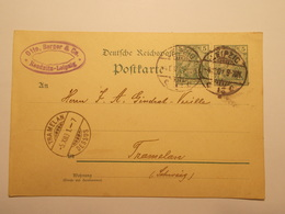 Marcophilie  Cachet Lettre Obliteration Timbres - ALLEMAGNE  - Leipzig - Entier Postal - 1901 (1972) - Allemagne