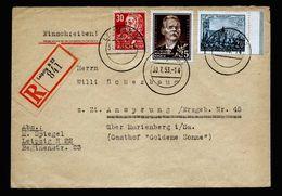 A5360) DDR R-Brief Leipzig 30.7.53 N. Ansprung - DDR