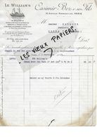 75 - Paris - PARIS - Facture BEZ - Marque LE WILLIAM'S - 1913 - REF 88A - 1900 – 1949