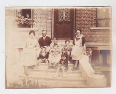 PHOTO ANCIENNE 12X9 / FAMILLE à CAYEUX - AOUT 1922 - Personnes Anonymes