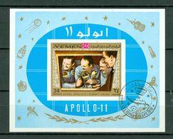 Yemen  1969  Mi Bl 167 - Apollo 11 - Used - Yémen