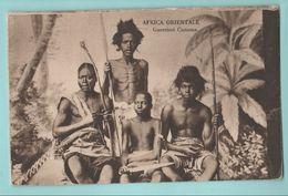 Africa Afrika Eritrea Costumi AOI Guerrieri Cunama Folklore Costumi - Costumi