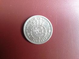Portugal Colonia  Angola   10 Escudos 1955    Silver , Prata Ag.720    5gr. - Portugal