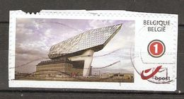 Belgique - Duostamp - Havenhuis Antwerpen/Anvers - Oblitéré Sur Fragment - Architecte Zaha Hadid - Architecture Futurist - Personalisierte Briefmarken