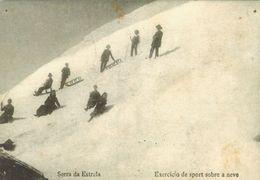 Portugal - Serra Da Estreda.  Exercicio De Sport Sobre A Neve.  S-4247 - Old Paper