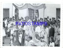 92323 PARAGUAY HELP COSTUMES RELIGIOUS PROCESSION PHOTO NO POSTAL POSTCARD - Paraguay