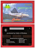 """St. LUCIA: 1994 STL-15A """"Heleair"""" Proof Card RRRare - St. Lucia"""