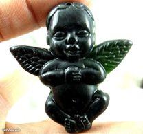 Jade Noir Cupidon  PENDENTIF - Pendants