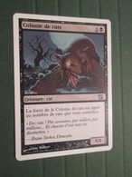 CARTE DE JEU MAGIC THE GATHERING (en Français) COLONIE DE RATS - Magic The Gathering