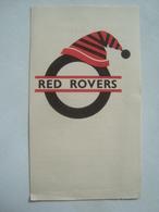 LONDON TRANSPORT. RED ROVERS. A NEW TRAVEL BARGAIN - UK, ENGLAND, 1955 APROX. BI-FOLD. - Transportation Tickets