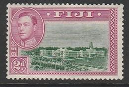 Fiji 1938 -1950 Local Motifs 2d SW: 115 Multicolored ** MNH - Fiji (...-1970)