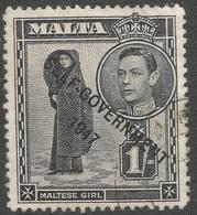 Malta. 1948-53 Self Government. 1/- Used SG 243 - Malta