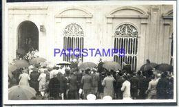 92344 PARAGUAY HELP BUILDING PHOTO NO POSTAL POSTCARD - Paraguay