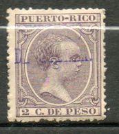 PUERTO RICO   (Impot De Guerre) Alfonse XIII  1898 N°2 - Puerto Rico