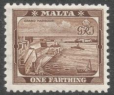 Malta. 1938-43 KGVI. ¼d MNH SG 217 - Malta