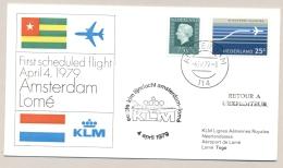 Nederland - 1979 - First Flight KLM Amsterdam - Lomé / Togo - Periode 1949-1980 (Juliana)