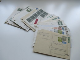 BRD 1950er Jahre Ab 1951. 40 Postkarten / Belege / Firmenkorrespondenz! EF / MiF / MeF Interessante Stücke! - BRD