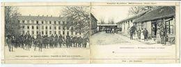 FRANCE - 30e Régiment D' Artillerie - La Cantine - Le Départ - CARTE  DOUBLE - RARE - Regimente