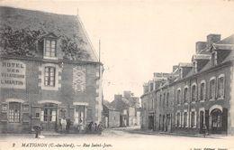 """¤¤  -  MATIGNON    -  Rue Saint-Jean  -  Hôtel  Des Voyageurs """" L. Martin """"    -  ¤¤ - Otros Municipios"""