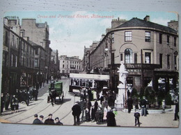 KILMARNOCK / CROSS AND PORTLAND STREET / BELLE CARTE COLORISEE TRES ANIMEE / 1907 - Ayrshire