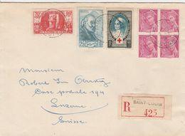 France Alsace Jolie Lettre Recommandée St Louis Pour La Suisse 1939 - Alsace Lorraine