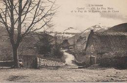 Le Puy Mary Et Le Puy De La Tourte, Vue De Claux (cantal) - France