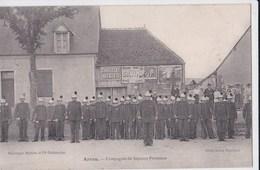 Carte 1905 ARROU / COMPAGNIE DE SAPEURS POMPIERS - France