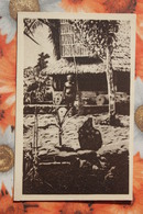 CAROLINAS Y MARIANAS Old Vintage Postcard - The Village -  Aborigens - Northern Mariana Islands