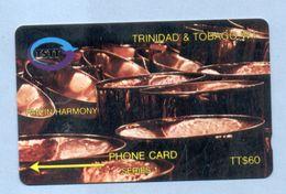 """TRINIDAD & TOBAGO: 1992 T&T-3C """"Pan In Harmony"""". TT$ 60 CN: 3CTTC. Used. - Trinidad & Tobago"""