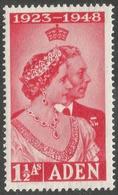 Aden. 1949 Royal Silver Wedding. 1½a MH. SG30 - Aden (1854-1963)