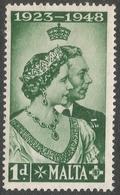 Malta. 1949 Royal Silver Wedding. 1d MH SG 249 - Malta