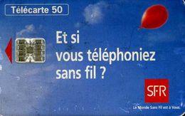 Télécarte 50 : SFR Et Si Vous Téléphoniez Sans Fil? - Opérateurs Télécom