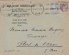 Saint  Raphael - Flamme De 1930 - Postmark Collection (Covers)