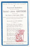 DP Kind 2j. - Daniel J. Gheysens / Lateur ° Sint-Jan Ieper 1928 † Wervik Wervicq 1930 - Imágenes Religiosas