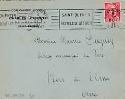 Saint  Quentin  - Flamme De 1949 - Postmark Collection (Covers)