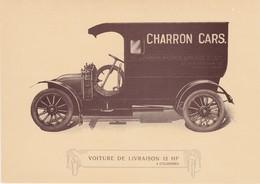 POSTCARD  - CHARRON - COMMERCIAL VEHICLES - OLD CAR - Voitures De Tourisme