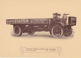 POSTCARD  - CHARRON - COMMERCIAL VEHICLES - OLD CAR - Toerisme