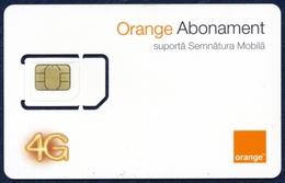 MOLDOVA - MOLDAVIA GSM (SIM) CARD ORANGE ABONAMENT 4G PERFECT MINT UNUSED - Moldova